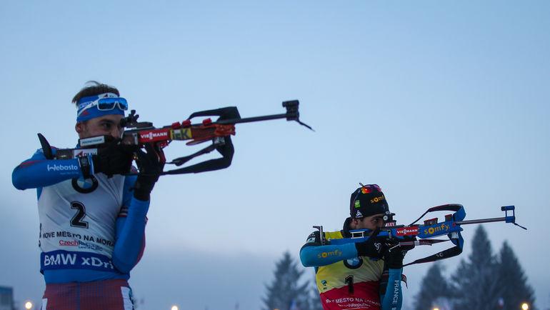 Мартен ФУРКАД (справа) и Антон ШИПУЛИН на этапе Кубка мира в Нове-Место в декабре 2016-го. Фото Андрей АНОСОВ, СБР