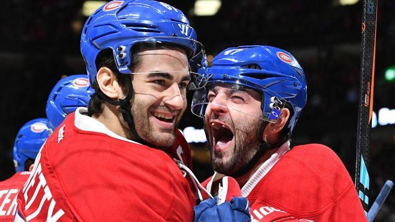 "Вторник. Монреаль. ""Монреаль"" - ""Баффало"" - 5:2. Макс ПАЧОРЕТТИ и Александр РАДУЛОВ празднуют гол. Фото НХЛ"
