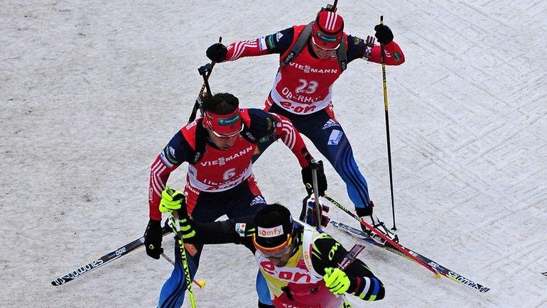 Мартен ФУРКАД, Антон ШИПУЛИН и Александр ЛОГИНОВ. Фото AFP