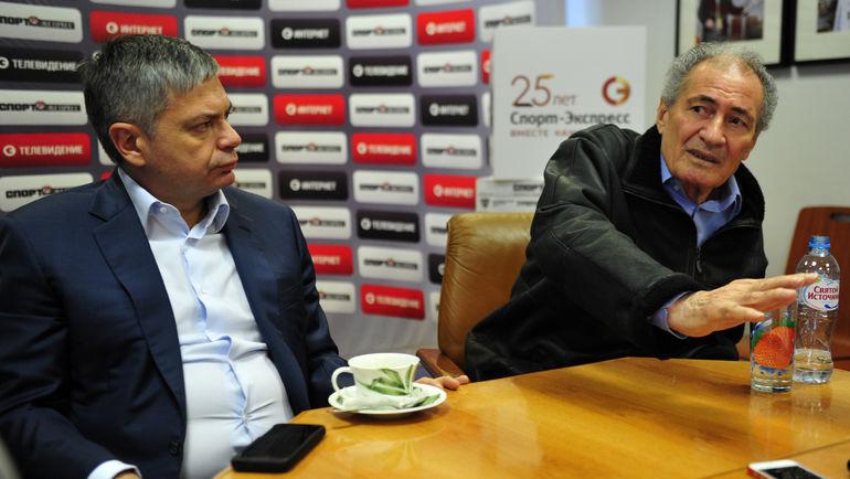 Сергей ШИШКАРЕВ и президент ИГФ - Хасан МУСТАФА. Фото Никита УСПЕНСКИЙ, «СЭ»