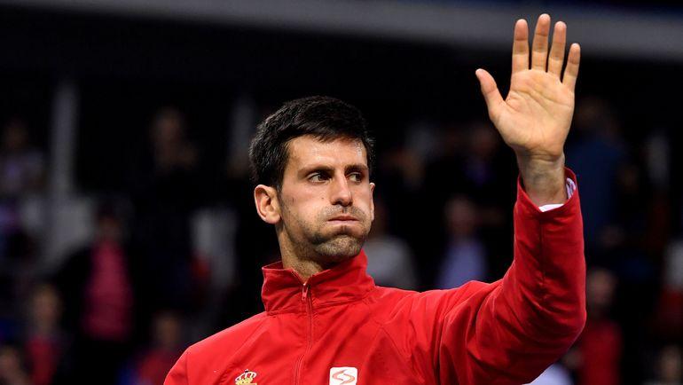 Вторая ракетка мира Новак ДЖОКОВИЧ остался высокого мнения о молодых российских теннисистах. Фото AFP