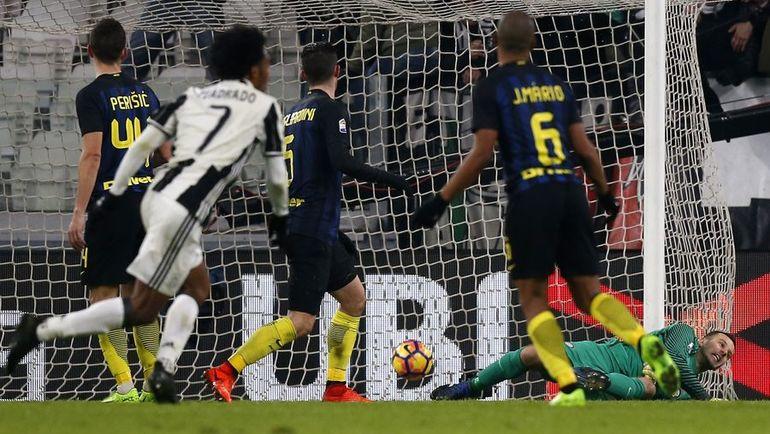 "Вчера. Турин. ""Ювентус"" - ""Интер"" - 1:0. 45-я минута. Гол Хуана КУАДРАДО. Фото AFP"