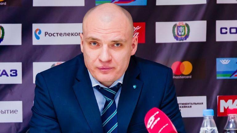 """Андрей РАЗИН. Фото ХК """"Югра"""""""