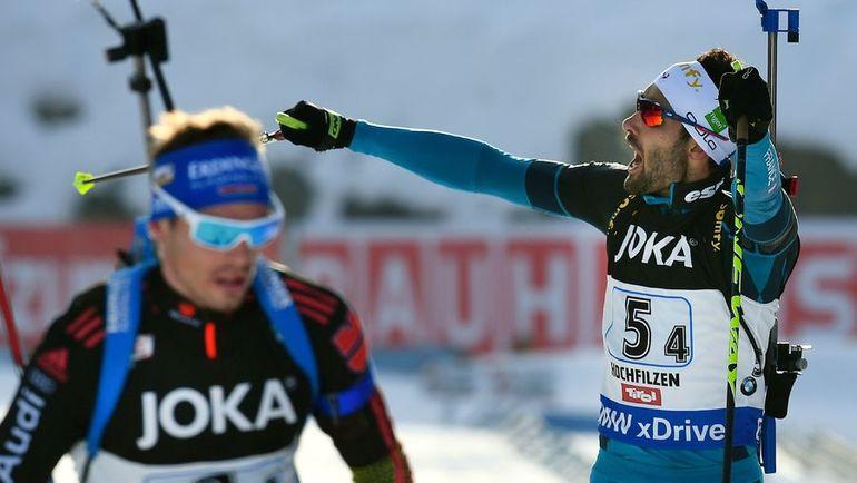 Сегодня. Хохфильцен. Мартен ФУРКАД (справа) на финише. Фото AFP