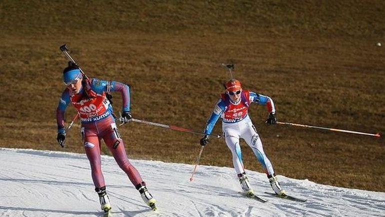Татьяна АКИМОВА (слева) сегодня побежит спринт. Фото СБР