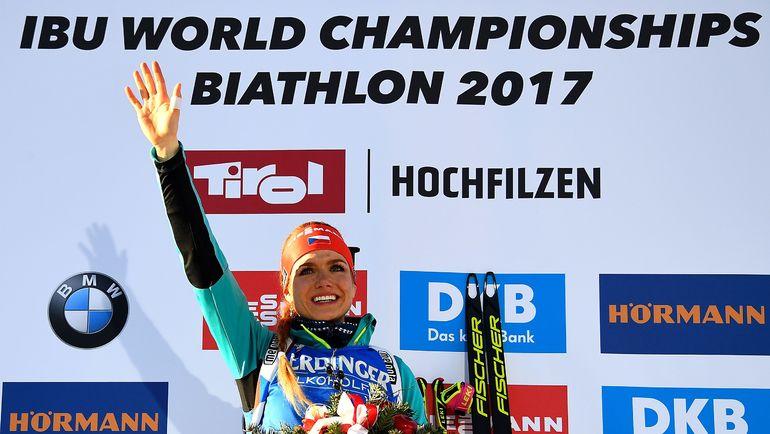 Сегодня. Хохфильцен. Габриэла КОУКАЛОВА - победительница спринтерской гонки. Фото AFP