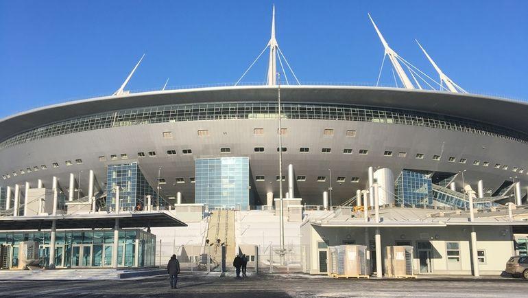 Сегодня. Санкт-Петербург. Вид на стадион на Крестовском. Фото Гоша ЧЕРНОВ, «СЭ»