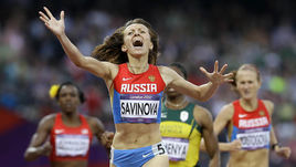 11 августа 2012 года. Лондон. Финиш Марии САВИНОВОЙ в забеге на 800 м.