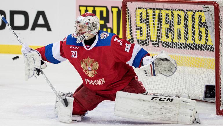 Илья СОРОКИН не раз спасал ворота сборной России. Фото AFP