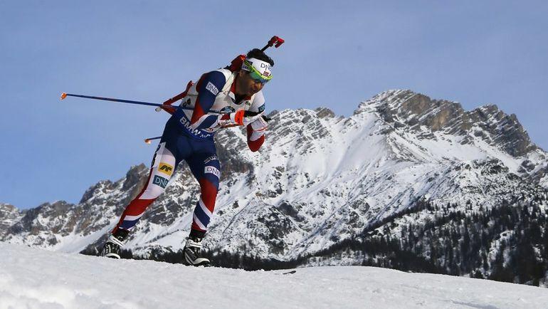 Сегодня. Хохфильцен. Оле Эйнар БЬОРНДАЛЕН стал третьим в гонке преследования. Фото AFP