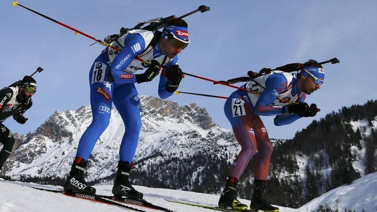 Сегодня Хохфильцен. Антон ШИПУЛИН (справа) и Доминик ВИНДИШ. Фото Reuters