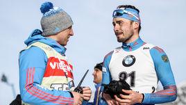 Антон ШИПУЛИН (справа) после гонки преследования.