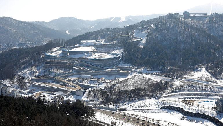 Вид на Alpensia центр. Фото Reuters