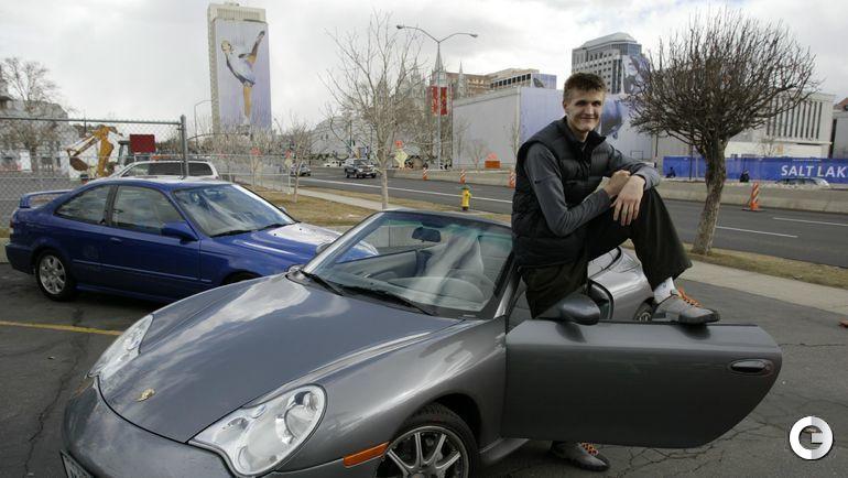 2002 год. XIX зимние Олимпийские Игры. Андрей КИРИЛЕНКО - баскетболист клуба НБА из «Юта Джаз» (Солт-Лейк-Сити).