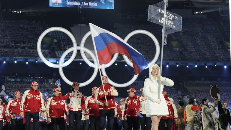Алексей МОРОЗОВ - знаменосец России на Олимпиаде-2010. Фото REUTERS