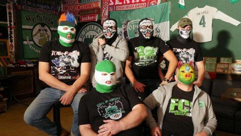 Кадр из фильма BBC с участием русских хулиганов.