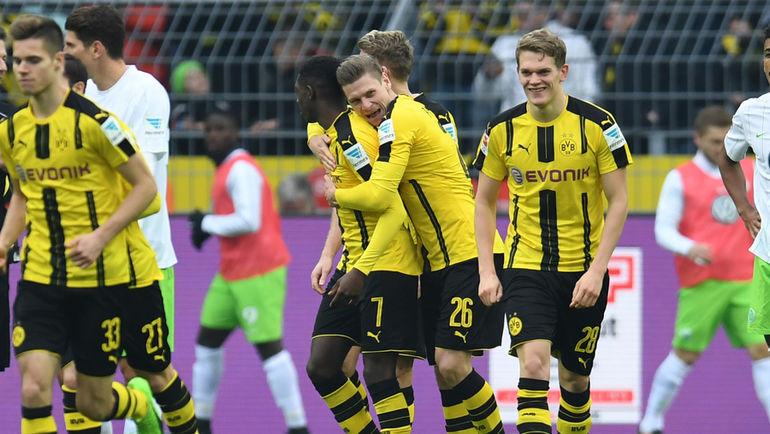 """Суббота. Дортмунд. """"Боруссия"""" - """"Вольфсбург"""" - 3:0. Даже дисквалификация домашних трибун не помешала хозяевам победить. Фото AFP"""