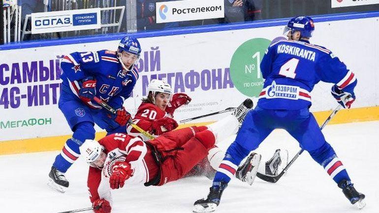 """Сегодня. Санкт-Петербург. СКА - """"Витязь"""" - 3:1. Армейцы начали серию с победы. Фото ХК СКА"""