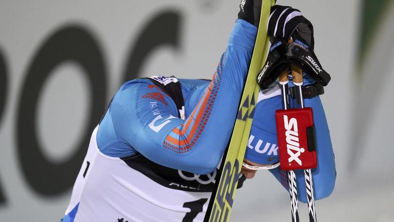 Сергей УСТЮГОВ после финиша. Фото REUTERS