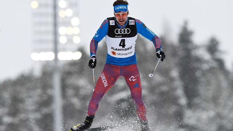 Вчера. Лахти. Сергей УСТЮГОВ на спринтерской дистанции. Фото AFP