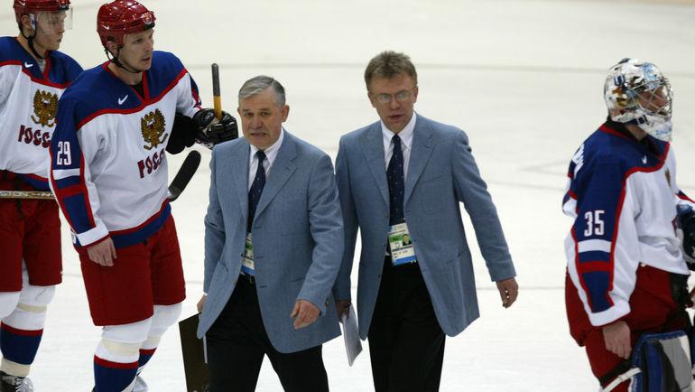 Вячеслав ФЕТИСОВ и Владимир ЮРЗИНОВ. Фото Александр ФЕДОРОВ, «СЭ»