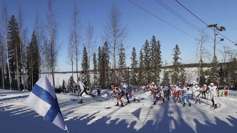 Лыжники во время скиатлона. Фото Reuters