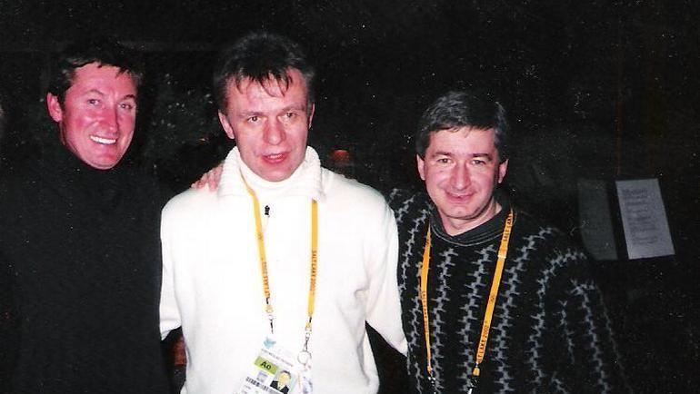 Уэйн ГРЕТЦКИ, Вячеслав ФЕТИСОВ и Игорь КУПЕРМАН. Фото «СЭ»