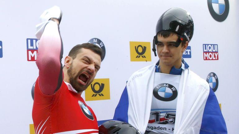 Сегодня. Кенигзее. Никита ТРЕГУБОВ (справа) и Мартинс ДУКУРС. Фото Reuters