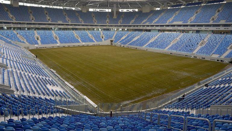 Понедельник. Санкт-Петербург. Общий вид стадиона на Крестовском. Фото AFP