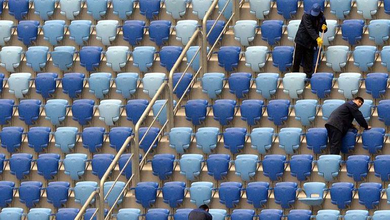 Стадион на Крестовском: работы на трибунах. Фото AFP