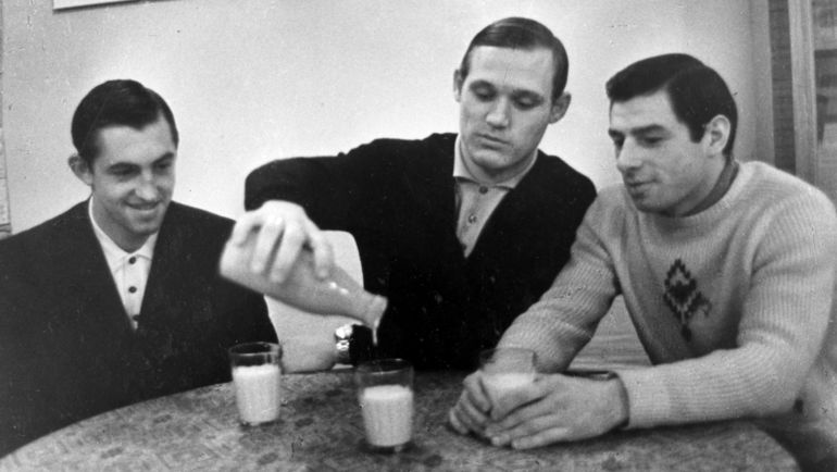 Борис МИХАЙЛОВ, Владимир ПЕТРОВ и Валерий ХАРЛАМОВ. Фото Анатолий БОЧИНИН
