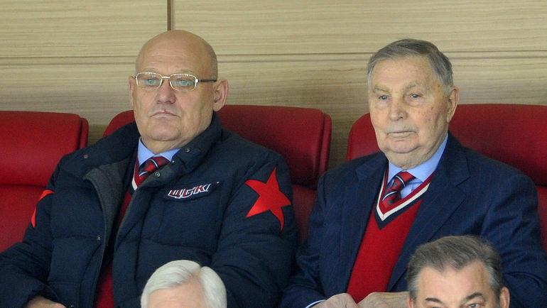 Владимир ПЕТРОВ и Виктор ТИХОНОВ. Фото Федор УСПЕНСКИЙ, «СЭ»