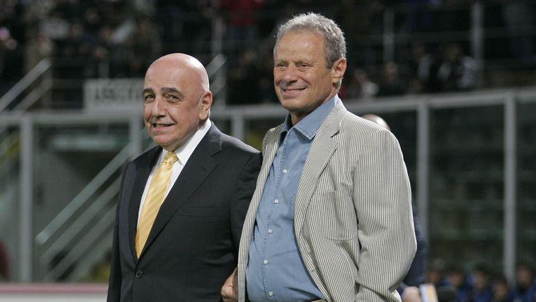 """2010 год. Маурицио ДЗАМПАРИНИ (справа) с президентом """"Милана"""" Адриано ГАЛЛИАНИ. Фото AFP"""