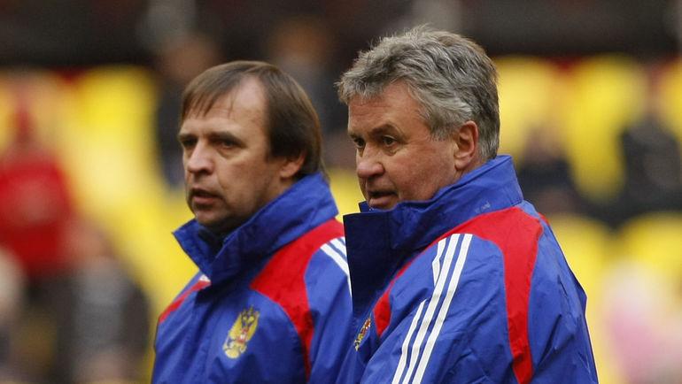 2010 год. Александр БОРОДЮК (слева) и Гус ХИДДИНК. Фото Александр ФЕДОРОВ, «СЭ»