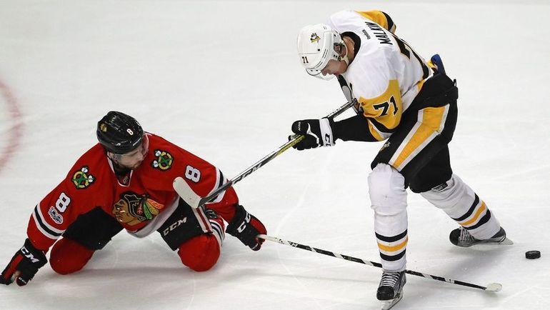 """Среда. Чикаго. """"Чикаго"""" - """"Питтсбург"""" - 4:1. Евгений МАЛКИН (№71). Фото AFP"""