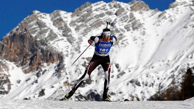 Юлиан ЭБЕРХАРД - победитель спринта в Пхенчхане. Фото AFP