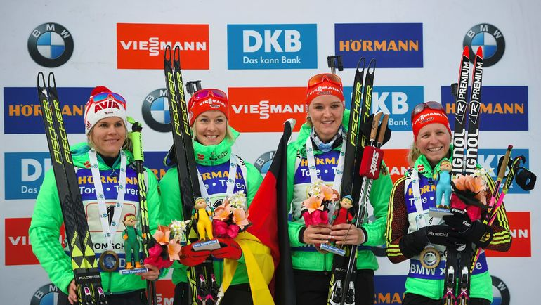 Победу - даже без Лауры Дальмайер - вновь праздновала Германия. Фото AFP