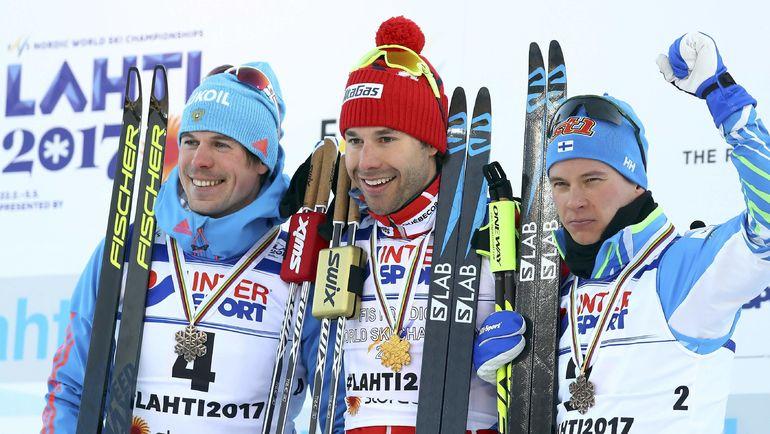 Сергей УСТЮГОВ, Алекс ХАРВИ и Матти ХЕЙККИНЕН. Фото Reuters