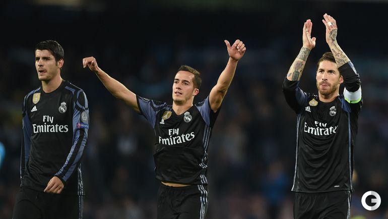 """Вчера. Неаполь. """"Наполи"""" - """"Реал"""" - 1:3. Альваро МОРАТА, Лукас ВАСКЕС, СЕРХИО РАМОС."""