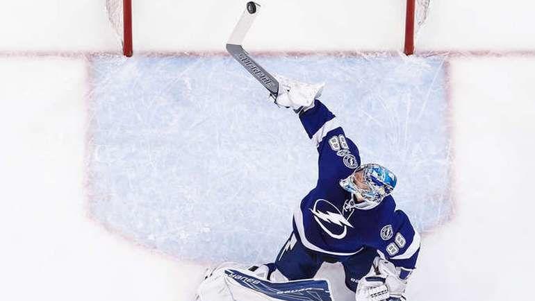 "Четверг. Тампа. ""Тампа Бэй"" - ""Миннесота"" - 4:1. Андрей ВАСИЛЕВСКИЙ. Фото NHL.com"
