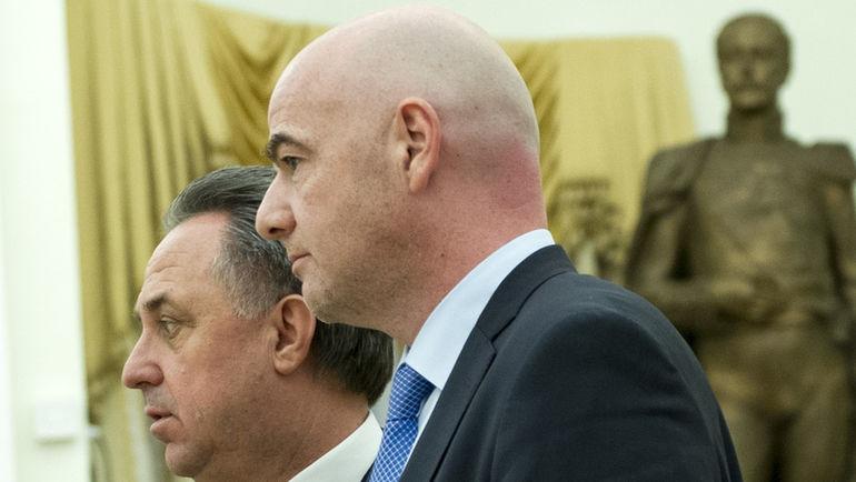 Виталий МУТКО и глава ФИФА Джанни ИНФАНТИНО. Фото Федор УСПЕНСКИЙ, «СЭ»