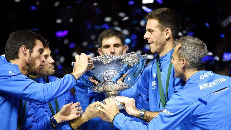 В финале последнего розыгрыша Кубка Дэвиса Аргентина переиграла Хорватию. Фото AFP