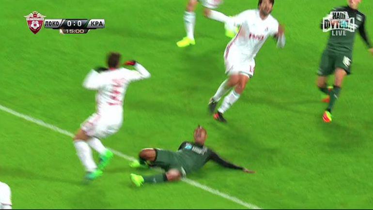 Вандерсон получил удар снизу по ноге от Пейчиновича. Фото «СЭ»