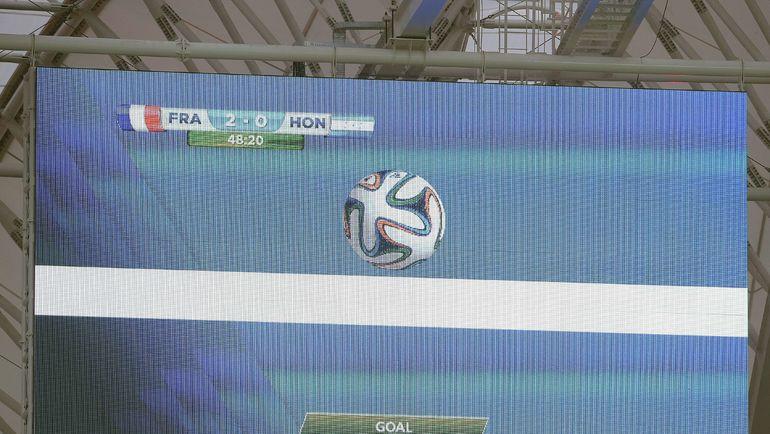 Результат работы системы - в матче ЧМ-2014 между Францией и Гондурасом. Фото AFP