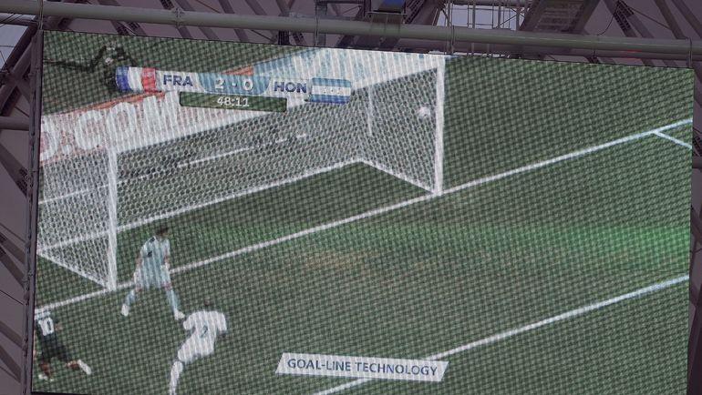 Дебют системы на ЧМ-2014: технология помогла зафиксировать гол в матче между Францией и Гондурасом. Фото AFP