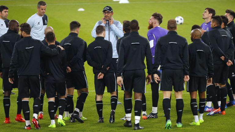 """Вчера. Турин. Тренировка """"Порту"""". Фото AFP"""
