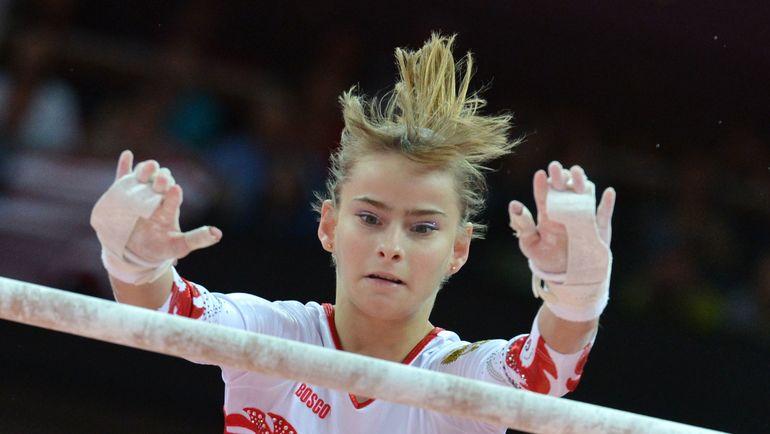 Серебряный призер Олимпиады-2012 в командном многоборье Анастасия ГРИШИНА. Фото AFP