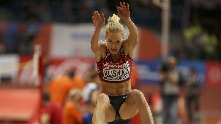 Дарья КЛИШИНА вновь выступала под нейтральным флагом на чемпионате Европы в Белграде. Фото REUTERS