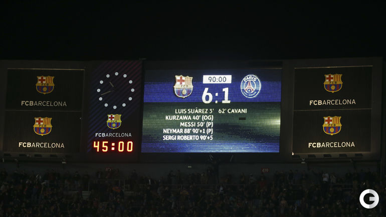 """8 марта. Барселона. """"Барселона"""" - """"ПСЖ"""" - 6:1."""