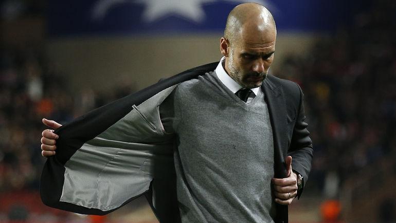 """Среда. Монако. """"Монако"""" – """"Манчестер Сити"""" – 3:1. Пеп ГВАРДЬОЛА впервые не смог вывести свою команду в четвертьфинал Лиги чемпионов. Фото Reuters"""